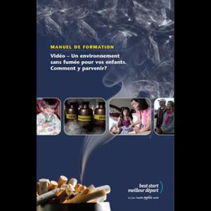 """Couverture du livret """"Un Environnement sans fumée pour vos enfants"""""""