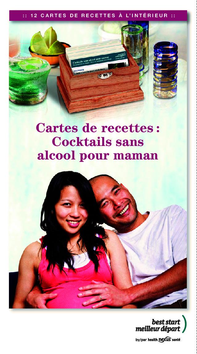 """Couverture de la brochure """"Cocktail sans alcool pour Maman"""""""