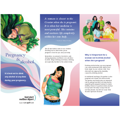 Cover of the Pregnancy and Alcohol Indigenous brochure