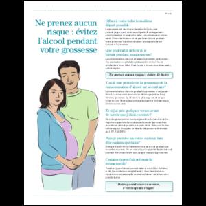 Couverture du feuiillet Ne prenez pas de risques - Alcool et grossesse