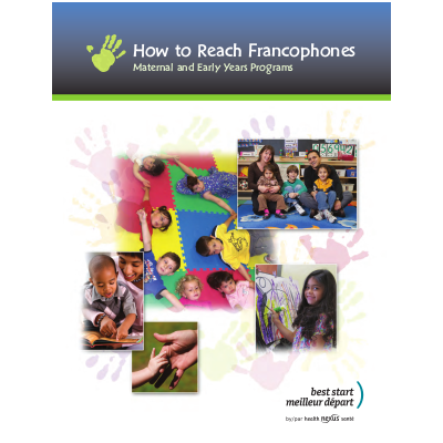 "Cover of the ""How to reach francophones"" manual"