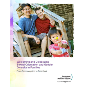 "Couverture du livret ""Welcoming and Celebrating Sexual Orientation and Gender Diversity in Families"""