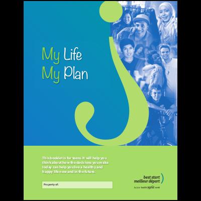 """Couverture du livret """"My Life My Plan"""""""