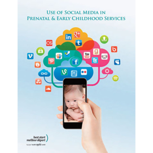 "Couverture du manuel ""Use of Social Media in Prenatal and Early Childhood Services"""