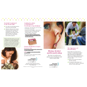 Cover of the Alcohol and Breastfeeding brochure