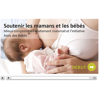 Screen capture of the first page of the Breastfeeding Web course