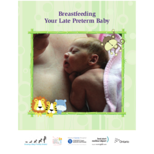 "Cover of the ""Breastfeeding Your Late Preterm Baby"" booklet"