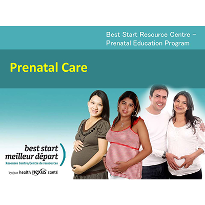 Title slide of the Prenatal clases chapter of the Prenatal education modules