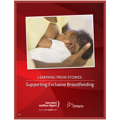 "Couverture du livret ""Learning from Stories: Supporting Exclusive Breastfeeding"""