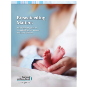 "Couverture du livre ""Breastfeeding matters"""