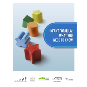 "Cover of thhe ""Infant formula : What you need to know"" booklet"