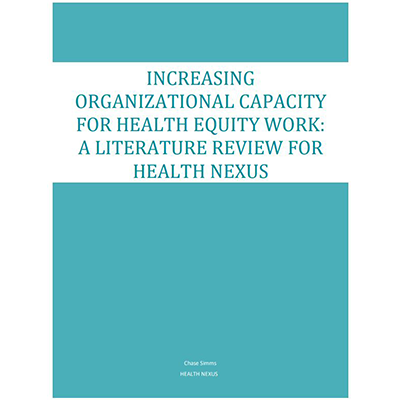 "Cover of the ""Increasing Organizational Capacity"" literature review"