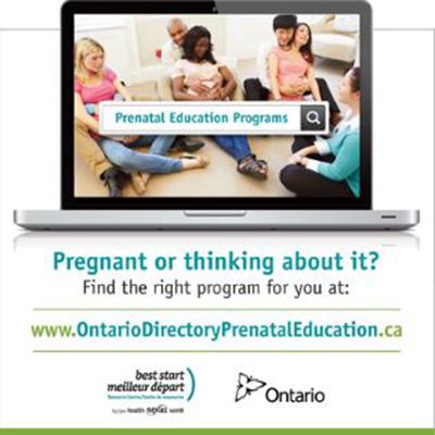Snapshot of the square banner promoting the Prenatal Education Directory
