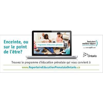 Apercu de la bannière web pour le répertoire d'éducation prénatale