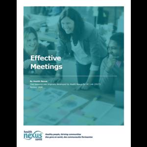 """Couverture du manuel """"Effective Meetings"""""""