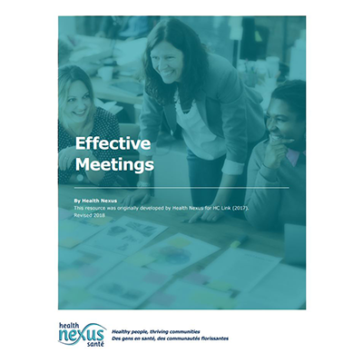 "Couverture du manuel ""Effective Meetings"""