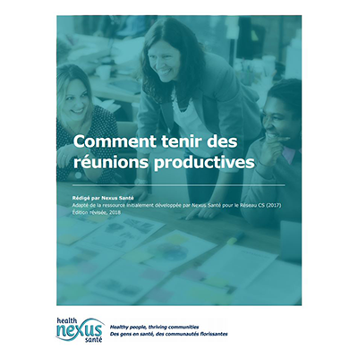 "Cover of the ""Comment tenir des réunions productives"" manual"