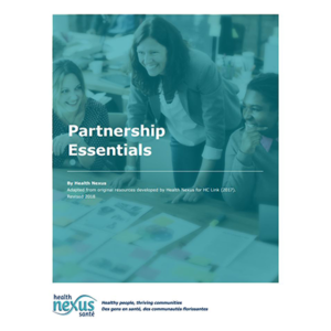 "Cover of the ""Partnership Essentials"" manual"