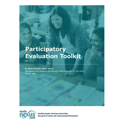 "Cover of the ""Participatory Evaluation Toolkit"" manual"