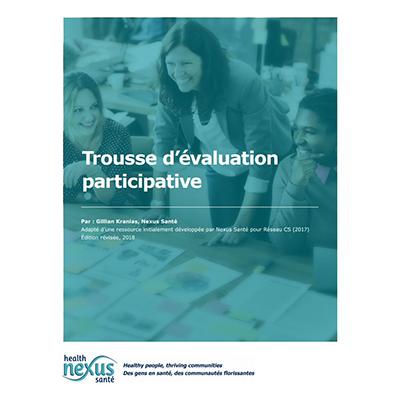 """Couverture du livret """"Trousse d'évaluation participative"""""""