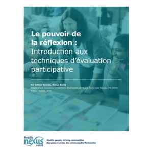 "Cover of the manual "" Le pouvoir de la réflexion : Introduction aux techniques d'évaluation participative"""