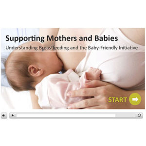 Screen capture of intro page of the breastfeeding course