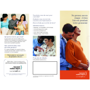 "Capture d'écran de la brochure ""Be Safe: Have an Alcohol-Free Pregnancy"""