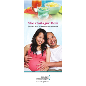 Cover of the Mocktails for Mom brochure