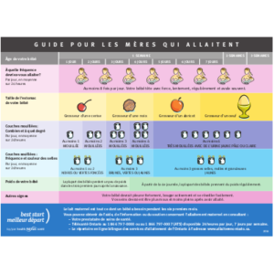 """Image du tableau """"Guide pour les mères qui allaitent"""""""