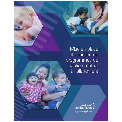 """Couverture du manuel """"Mise en place et maintien de programmes de soutien mutuel à l'allaitement"""""""
