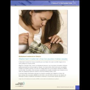 Couverture de la fiche d'information no 3: Allaitement maternel chez les jeunes mères seules