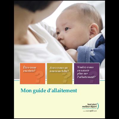 """Couverture du livret """"Mon guide d'allaitement"""""""