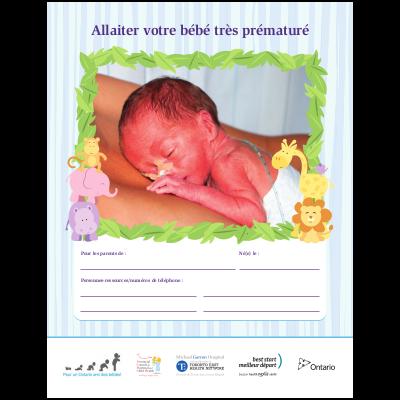 """Couverture du livret """"Allaiter votre bébé très prématuré"""""""