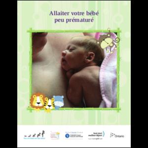 """Couverture du livret """"Allaiter votre bébé peu prématuré"""""""