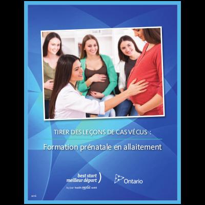 """Couverture du livret """"Tirer des leçons de cas vécus: formation prénatale en allaitement"""""""