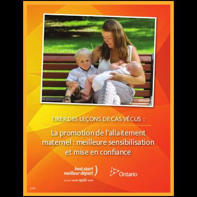 """Couverture du livret """"Tirer des leçons de cas vécus: la promotion de l'allaitement maternel: meilleure sensibilisation et mise en confiance"""""""