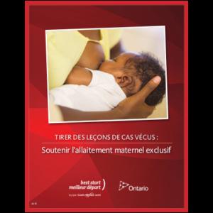 """Couverture du livret """"Tirer des leçons de cas vécus: soutenir l'allaitement maternel exclusif"""""""
