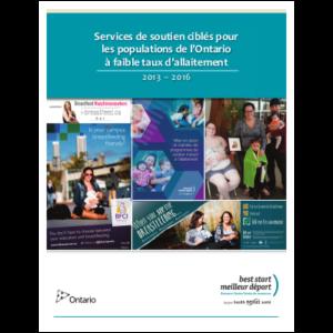 """Couverture du rapport """"Services de soutien ciblés pour les populations à faible taux d'allaitement"""""""