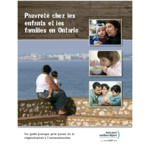 """Couverture du rapport """"Pauvreté chez les enfants et les familles en Ontario"""""""