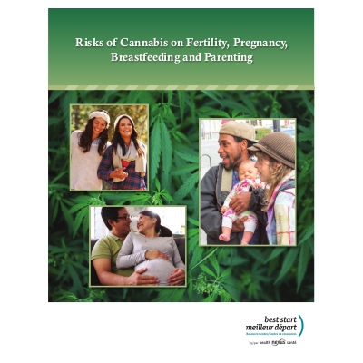 Cover of the cannabis booklet / Couverture du livret sur le cannabis