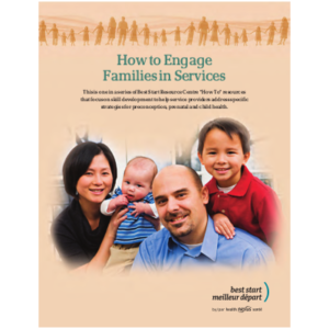 "Cover of the manual ""How to engage families in services"""