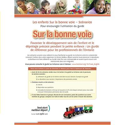 """First page of the """"Sur la Bonne Voie"""" scenarios"""