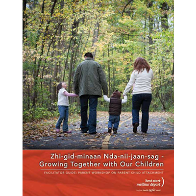 "Cover of the ""Growing together with our children"" guide"