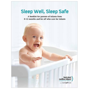 "Cover of the :""sleep Well Sleep Safe"" booklet"