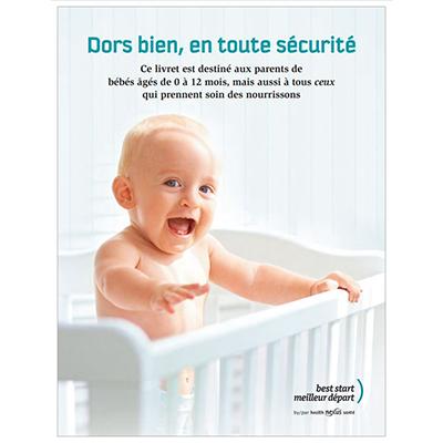 """Cover of the """"Dors bien, en toute sécurité"""" booklet"""
