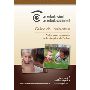 "Cover of the ""les enfants voient, les enfants apprennent"" facilitator guide"