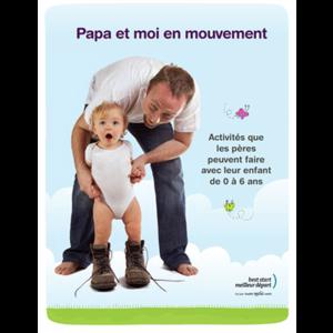 """Couverture du livret """"Papa et moi en mouvement"""""""