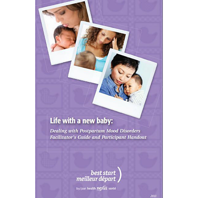"Cover of the ""Life with a new baby"" DVD jacket"