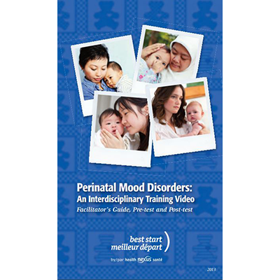 Cover of the Perinatal Mood Disorders facilitator guide