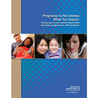 "Cover of the ""Pregnancy is not always"" booklet"